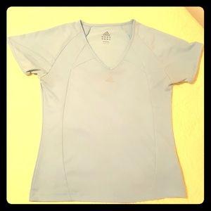 Make Offer! Pastel Adidas blue mesh v-neck tee